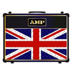 Union jack guitar amplifier vector