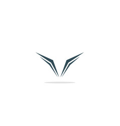 v teks monogram abstract logo vector image