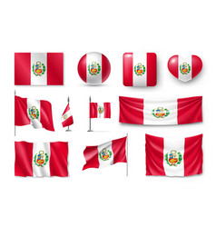 Various flags peru country vector