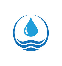 water logo icon concept design vector image