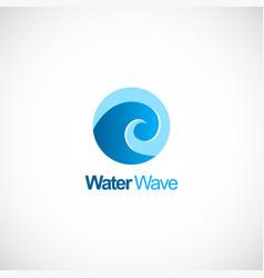 water wave curl logo vector image