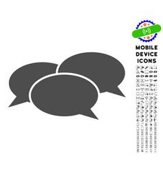 Webinar icon with set vector