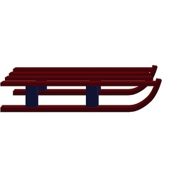 Winter wooden sled vector