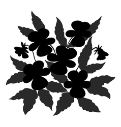 flowers pansies contour vector image vector image