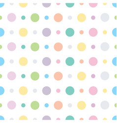 polka dots and circles seamless pattern vector image vector image