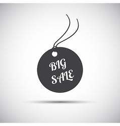 Simple big sale label icon vector image