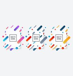 back to school banner school label vector image