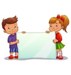 Children with paper vector image