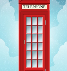 English Red Telephone Cabin on the Grass vector image