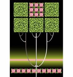rose nouveau vector image vector image