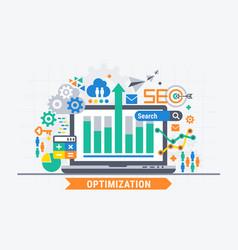 seo optimization vector image