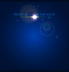 blue abstract background with light effects vector image vector image