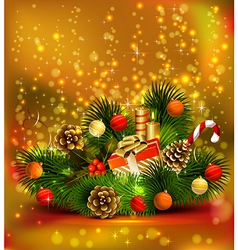 Christmas still life vector image vector image