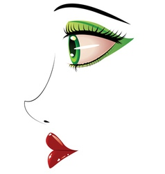 Female face in profile vector image