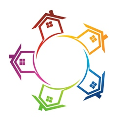 Group of Real estate houses vector image