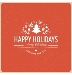 Red Christmas Background With Typography vector image