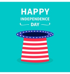 Big hat with stars and strip independence day vector image vector image