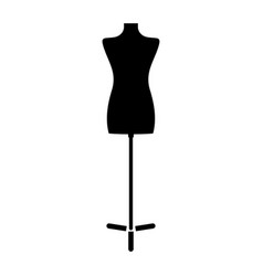 fashion stand female torso mannequin the black vector image