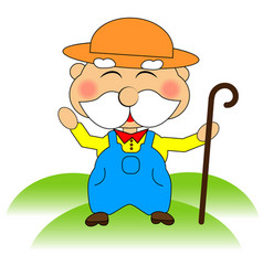 funny farmer character vector image vector image