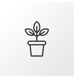 plant pot icon symbol premium quality isolated vector image