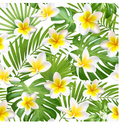 seamless exotic pattern with tropical leaves and vector image vector image
