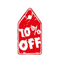 10 percent off discount sticker tag vector
