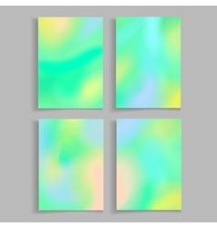 Abstract blurred backgrounds set Brochure flyer vector