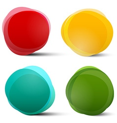 Abstract Circle Red Orange Blue and Green Colorful vector image