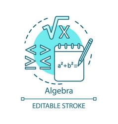 Algebra concept icon advanced calculations vector