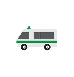 ambulance icon design template isolated vector image