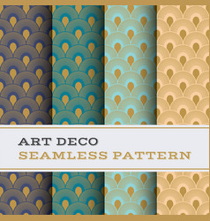 art deco seamless pattern 45 vector image
