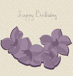beautiful floral birthday card perfect invitation vector image