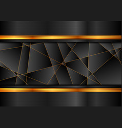 black and orange abstract technology background vector image
