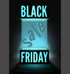 black friday seasonal sale poster template vector image