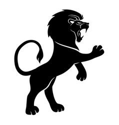 Black lion sign vector
