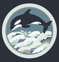 black whale vector image