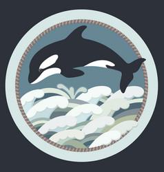 Black whale vector