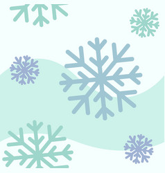 blue snowflakes seamless pattern vector image