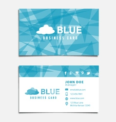 Blue Themed Business Card Template vector