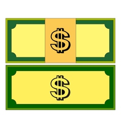 Cartoon money dollar banknote paper bill isolated vector
