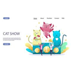 cat show website landing page design vector image