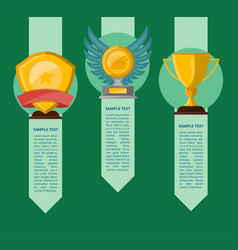 championship awards ceremony banners set vector image