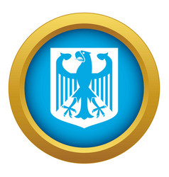 coat of arms of germany icon blue isolated vector image