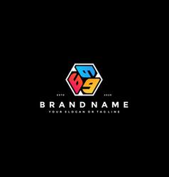 Colorful hexagon letter g logo design vector