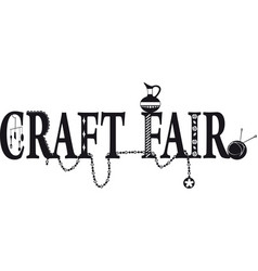 Craft fair banner vector