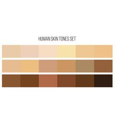 Creative of human skin tone vector