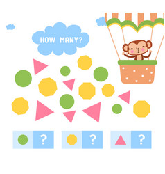 cute counting educational game for little children vector image