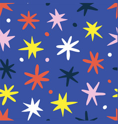 Doodle stars background cute scribble drawing vector