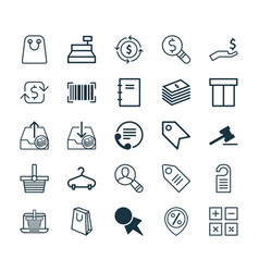 E-commerce icons set collection of rich vector