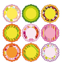 Easter set of Frame design elements vector